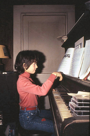 Little Girl with Big Piano